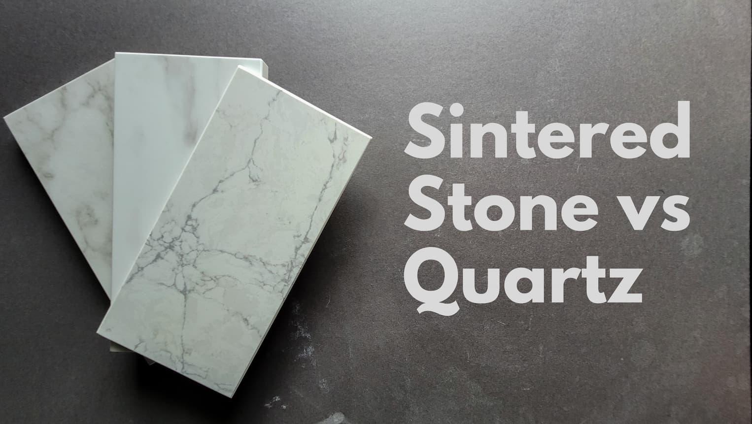 Sintered stone versus quartz