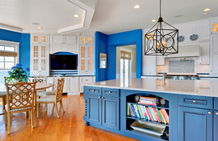 31 Awesome Blue Kitchen Cabinet Ideas