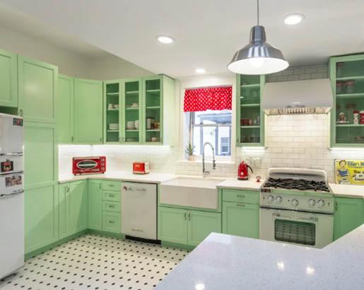 green kitchen cabinets 1