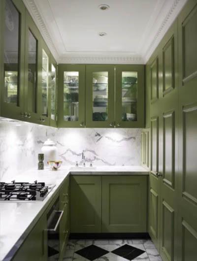 green kitchen cabinets 3