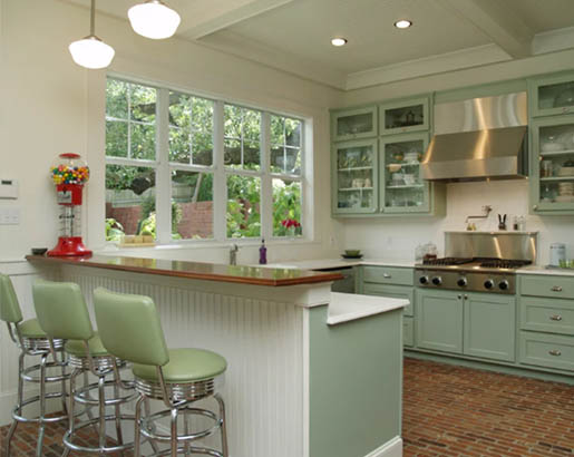 green kitchen cabinets 7