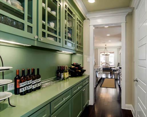 green kitchen cabinets 8