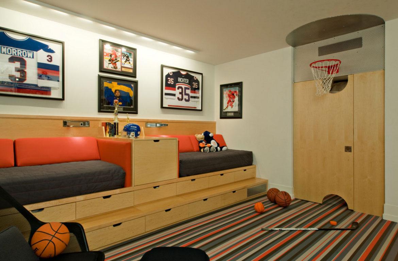 Really Fun Sports Themed Bedroom Ideas - Sebring Design Build